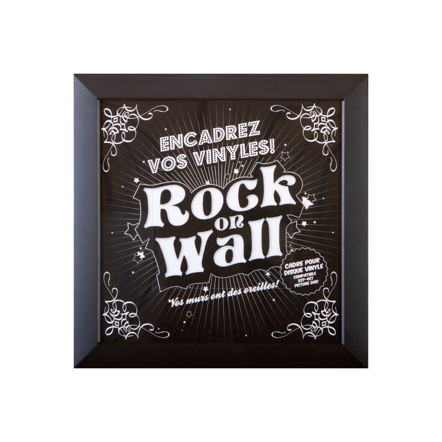 "CADRE POUR VINYLES ""Rock on wall"""